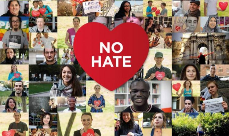 Immagine tratta dalla campagna europea NO HATE SPEECH