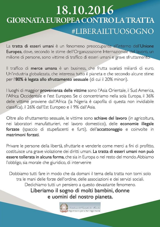 Volantino fronte Italia